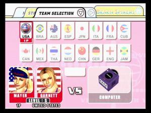 Wählt aus 16 vorgefertigten Teams oder erstellt eure eigenen Spielerinnen.