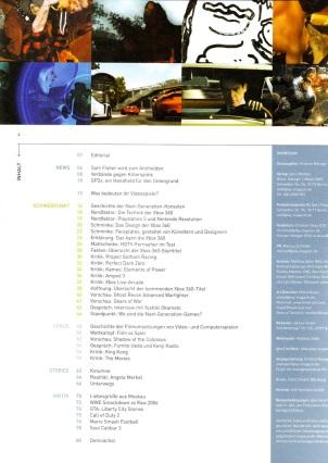 Das Inhaltsverzeichnis zeigt: Die Ausgabe stand ganz (und vermutlich etwas zu sehr) im Zeichen der gerade erschienenen XBox 360.