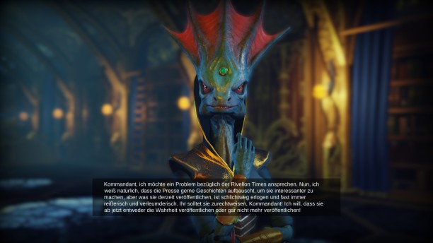 Pressefreiheit in Divinity: Dragon Commander