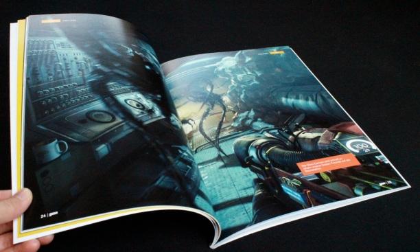 Großformatige Bilder lassen das Heft mitunter wie ein Artbook wirken.
