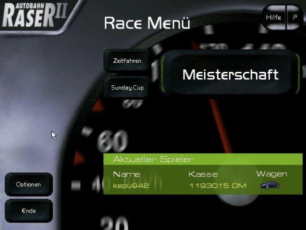 """Das """"Race Menü"""""""