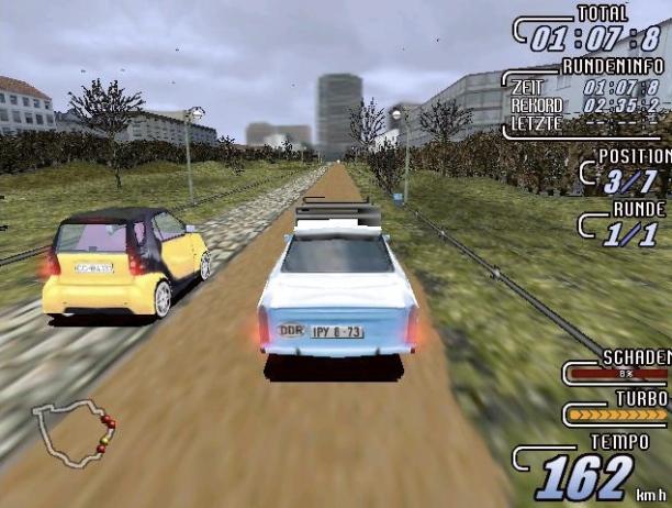 Ja, der Trabi schafft in dem Spiel 162 km/h.