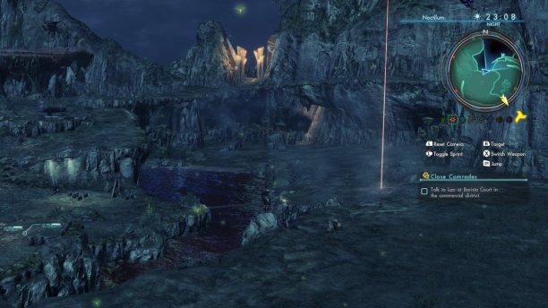 Noctilum (oder Nightglow Woods) ist von dichter Vegatation bedeckt.