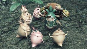 Das aus anderen Spielen der Reihe bekannte Volk der Nopon...