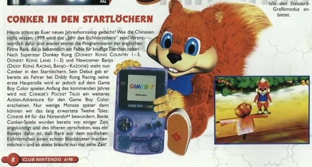 Conker Club Nintendo 1998
