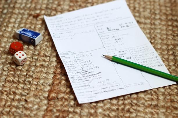 Erfahrene Spielerinnen sind oft besser bedient, ein einfaches Blatt Papier als Adventure Sheets zu gebrauchen.