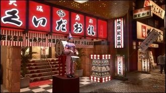 Auch in Yakuza Kiwami 2 ist der Clown mit Blechtrommel zu finden.