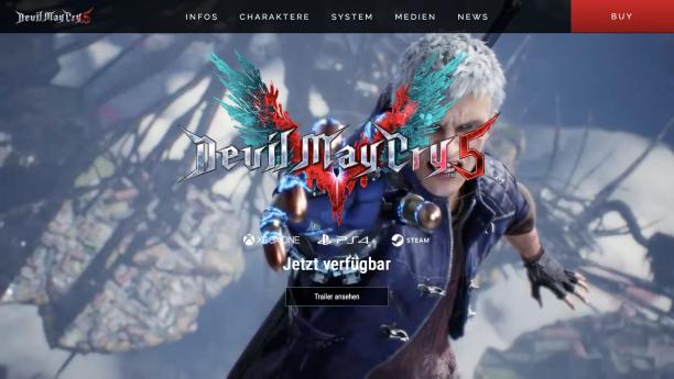devilmaycry5.com, Screenshot vom 19. März 2019, ©2019 Capcom