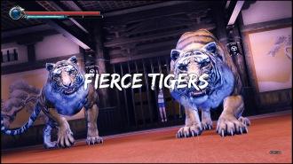Im Spiel prügelt man sich hingegen gegen Tiger.
