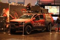 Martialische Fahrzeuge dürfen offenbar auf keiner Games-Großveranstaltung fehlen.