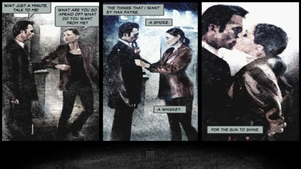 Remedy nutzt viele verschiedene Mediengattungen, um ihre Geschichten zu präsentieren. In Max Payne sind die Comic-Panels das Rückgrat der düsteren Noir-Erzählung.