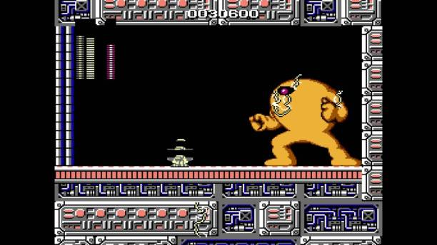 "Mega Man, Capcom (1987) -Quelle: Youtube/ ""Megaman: Yellow Devil Pause Glitch"" von Insomnis Xannim"