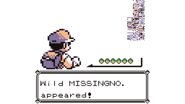 Pokémon Rot/Blau (1998). Source: https://www.primerplayer.com/2015/10/18/missingno-pokemon-misterioso/