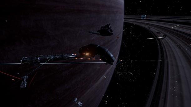 Die KI in X4 liefert sich teils dramatische Raumschlachten.