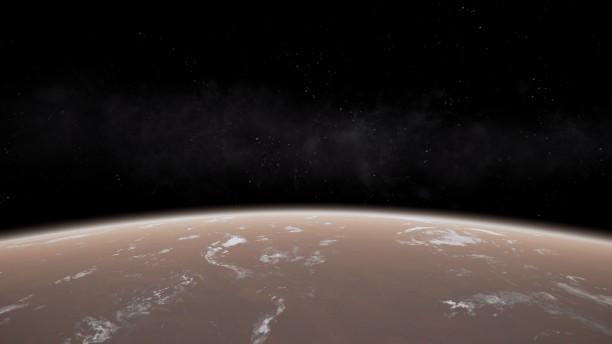 Planeten in X4 sind ganz nah – aber unerreichbar, denn landen kann man nicht.
