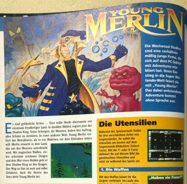 Preview zu Young Merlin in Ausgabe Nr. 3 (März/April 1994)