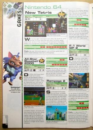 1999 waren lediglich Kurztests wie diese nicht als Game Guides ausgewiesen. Hier Ausgabe 7-8/1999 (Juli/August).