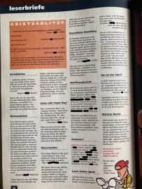 Leserbriefe in NFV Nr. 10 (Dezember 1994)