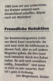 Leserbrief in NFV Nr. 10 (Dezember 1994)
