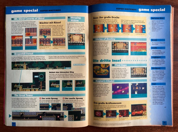 Game Guide zu Skyblazer in Fun Vision Nr. 4 (Mai/Juni 1994)