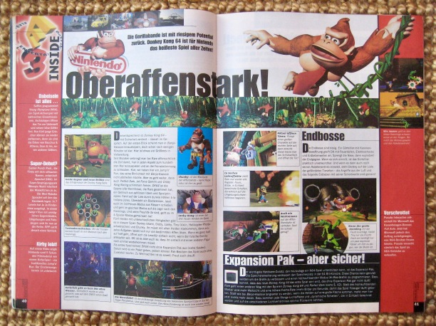 E3-Preview zu Donkey Kong 64 in NFV 7-8/1999 (Juli/August)