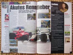 Preview und Interview zu F1 World Grand Prix II in Erste Seiten des Messeberichtes zur E3 1999 in NFV 7-8/1999 (Juli/August)