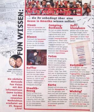 """""""Messe-Ratschläge"""" in NFV 7-8/1999 (Juli/August)"""