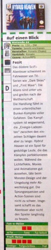 Wertungskasten zu Hybrid Heaven in NFV 11-12/1999 (November/Dezember)