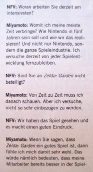 Interview mit Shigeru Miyamoto in NFV 11-12/1999 (November/Dezember)