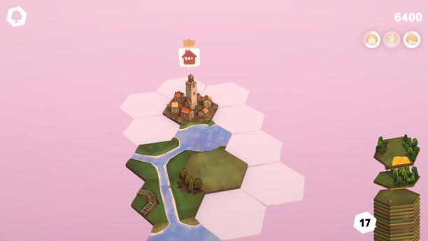 Grenzt ein Tile direkt an das spezielle Tile, erhalten wir eine Quest, deren Erfüllung eine Challenge freischaltet.