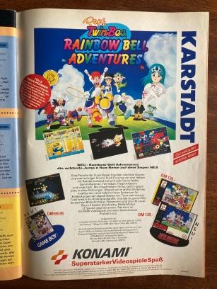 ...Werbeanzeige zu Pop'n TwinBee Rainbow Bell Adventures.