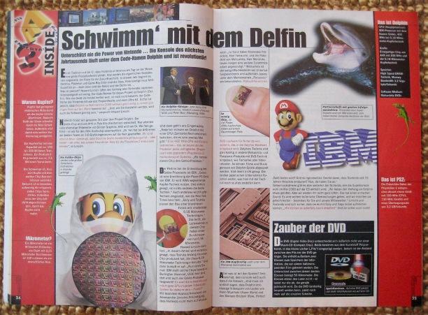 Ein früher Bericht zur neuen Nintendo-Konsole in Fun Vision 7-8/1999 (Juli/August). Das spätere CUBE-Magazin aus dem Pro Verlag war allerdings sehr kurzlebig.