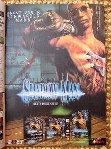 """Für die Spielkritik-Rubrik """"Klassiker der Printreklame"""" schon vorgemerkt: diese Anzeige zu Shadow Man."""