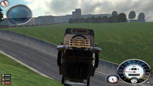 Eine riskante Abkürzung beschädigt das Auto…
