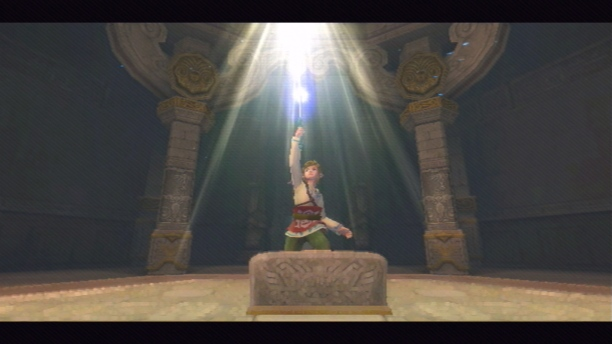Einführung in die Schwertkunst: Das Schwert wird zum ersten Mal zum Himmel ausgestreckt.